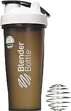 BlenderBottle Full Color Bottles - New Black Translucent Color with Shaker Ball - White - 28oz