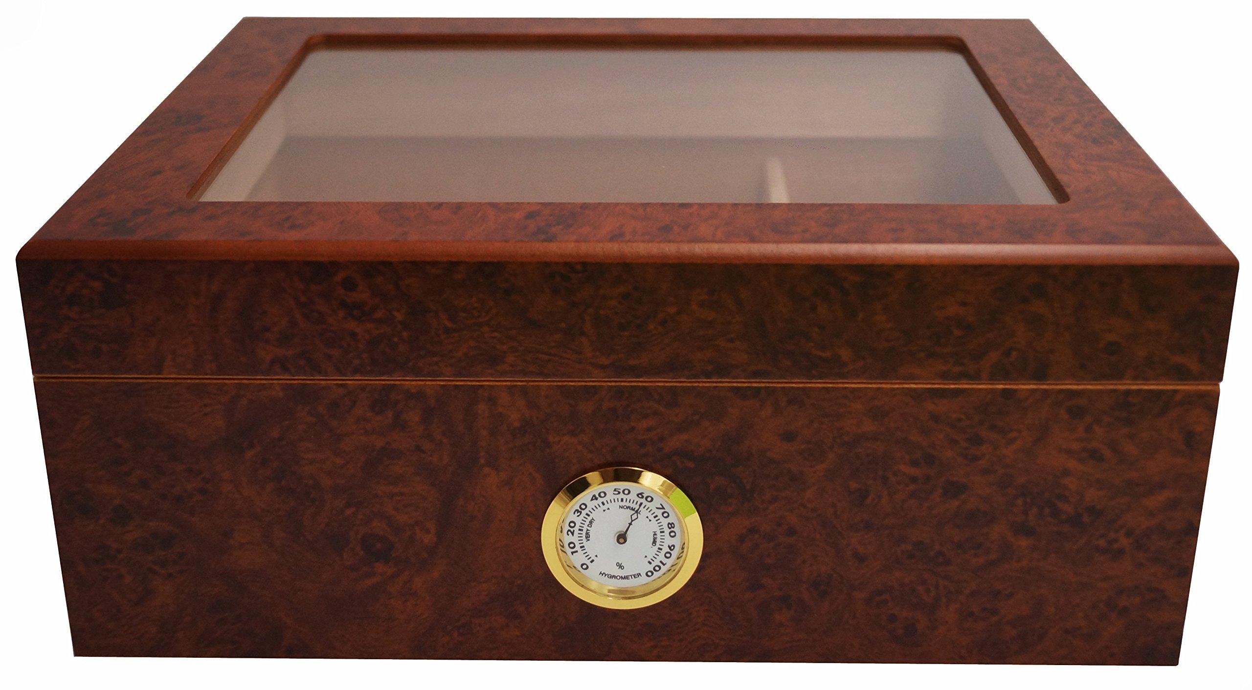 GERMANUS Humidor de Puros Desk I con Higrómetro y Humidificador y el Manual Germanus Libro en Marrón: Amazon.es: Hogar
