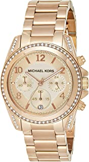 Michael Kors Blair Women's Pink Dial Stainless Steel Analog Watch - MK5263