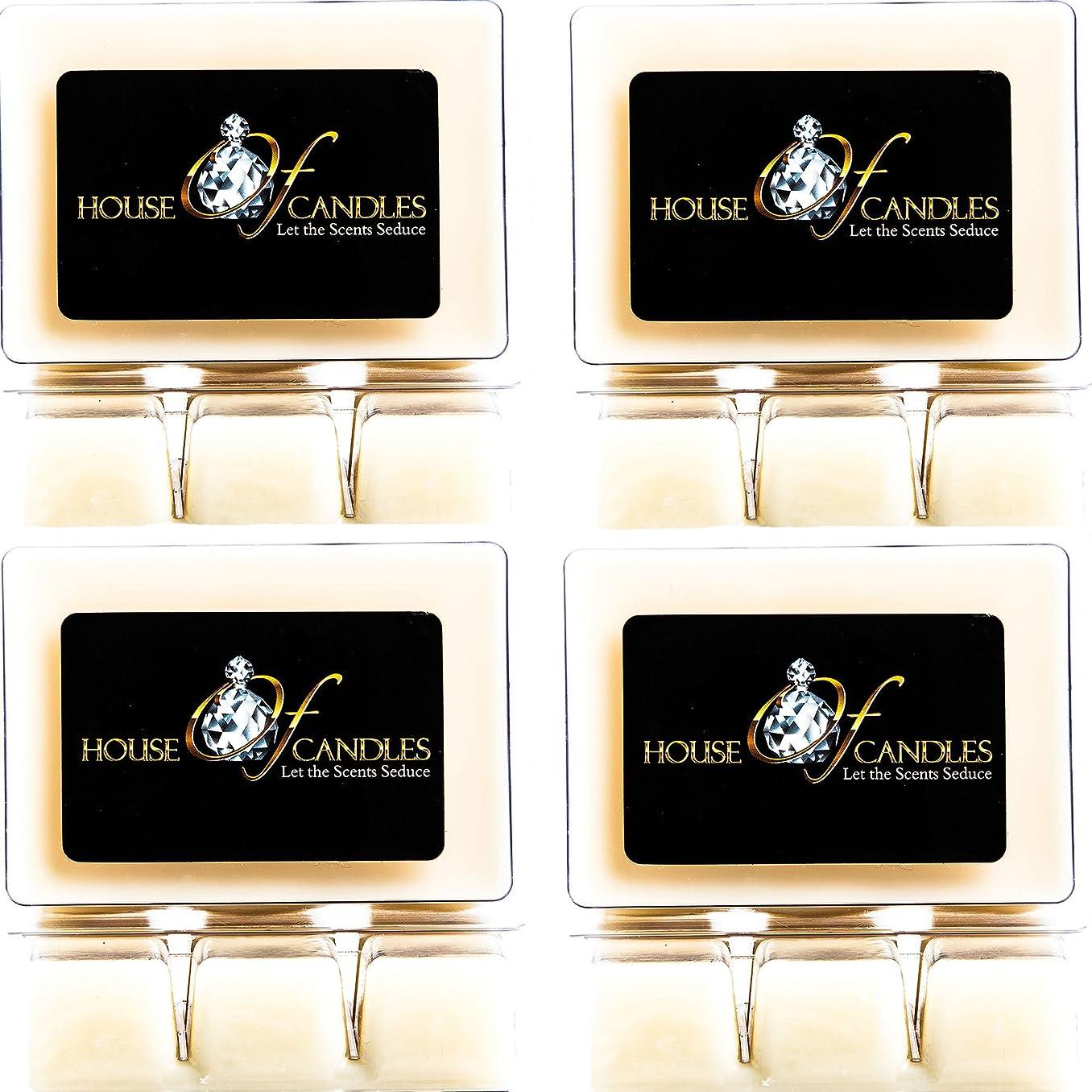 傾いた発音する王子Cappuccino Scented Candle Melts x 4 Clam Packs