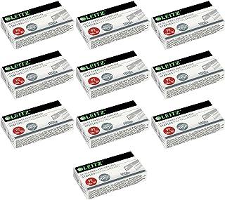 6//4-21//4 mm Lotto di 12 scatole di 1000 graffette n/° 8 LEITZ Galva