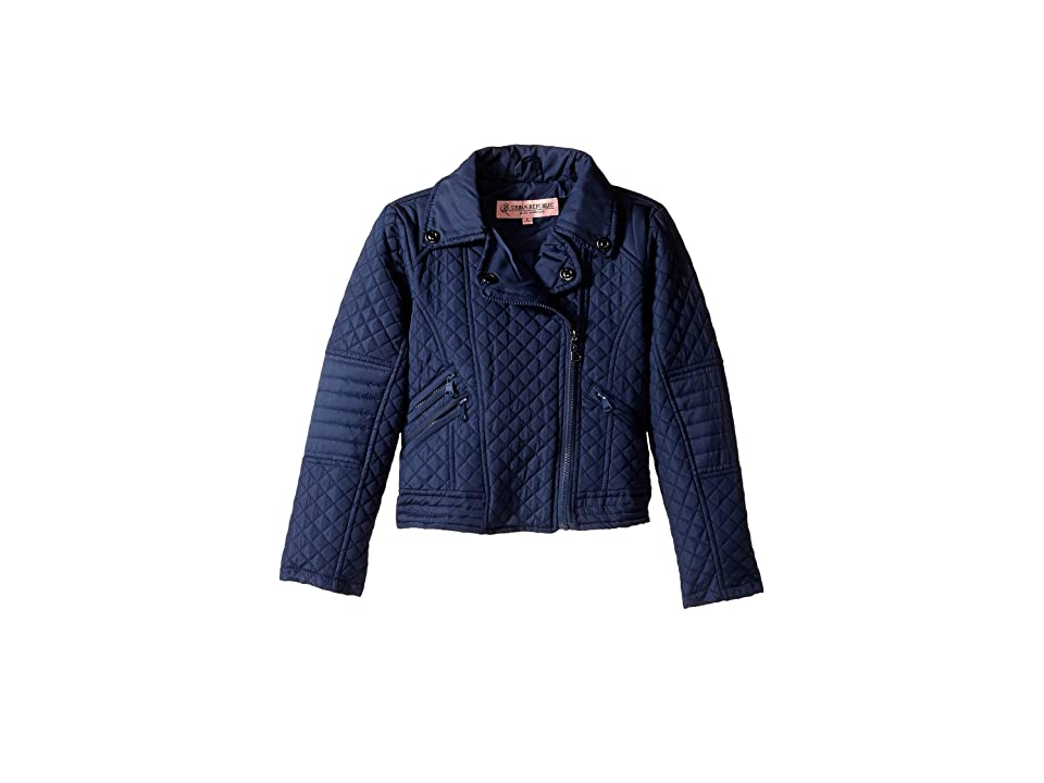Urban Republic Kids Moto Thinfill Quilted Jacket (Little Kids/Big Kids) (Navy) Girl