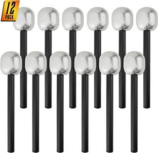 Skeleteen Stage Mic Costume Prop - Rock Star Toy Microphone Party Favor Decorative Props Costume Accessory - 1 Dozen