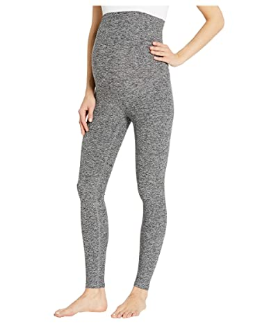 Beyond Yoga Maternity Empire Waisted Spacedye Midi Leggings (Black/White) Women