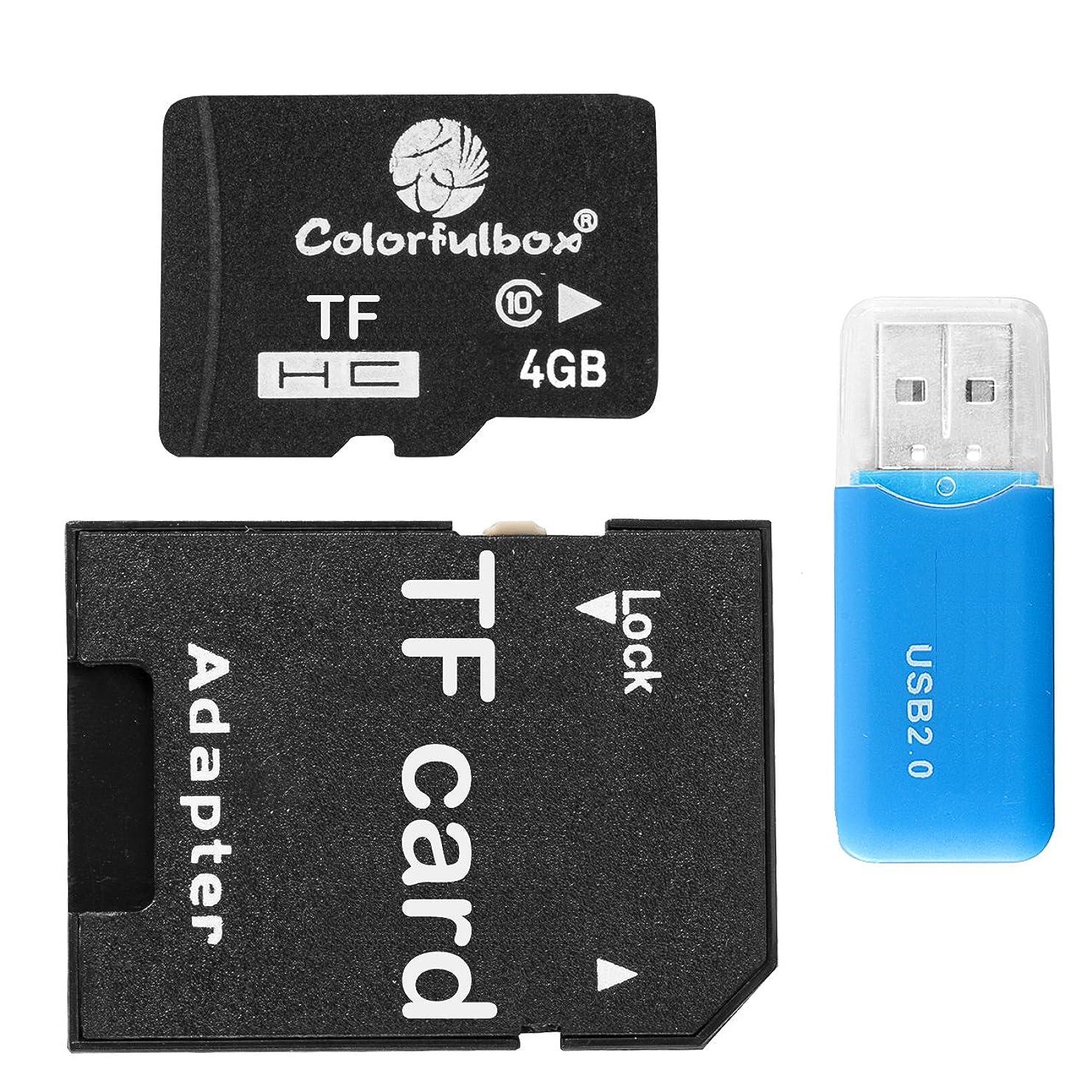 油橋二層diconna Class 10 microTF/SDHC カード +専用アダプター+USB 2.0 カードリーダー + 保管用クリアケース DF563 (4GB)