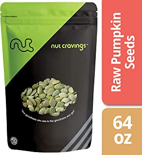 Nut Cravings - Raw Organic Pumpkin Seeds (4 Pounds) – Raw Pepitas With No Shell – 64 Ounce