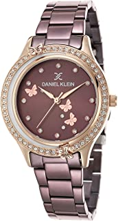 Daniel Klein Trendy Alloy Case Stainless Steel Band Ladies Wrist Watch - DK.1.12493-6, pink