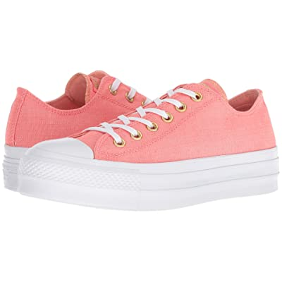 Converse Chuck Taylor(r) All Star(r) Lift Washed Linen (Pink/Driftwood/White) Women