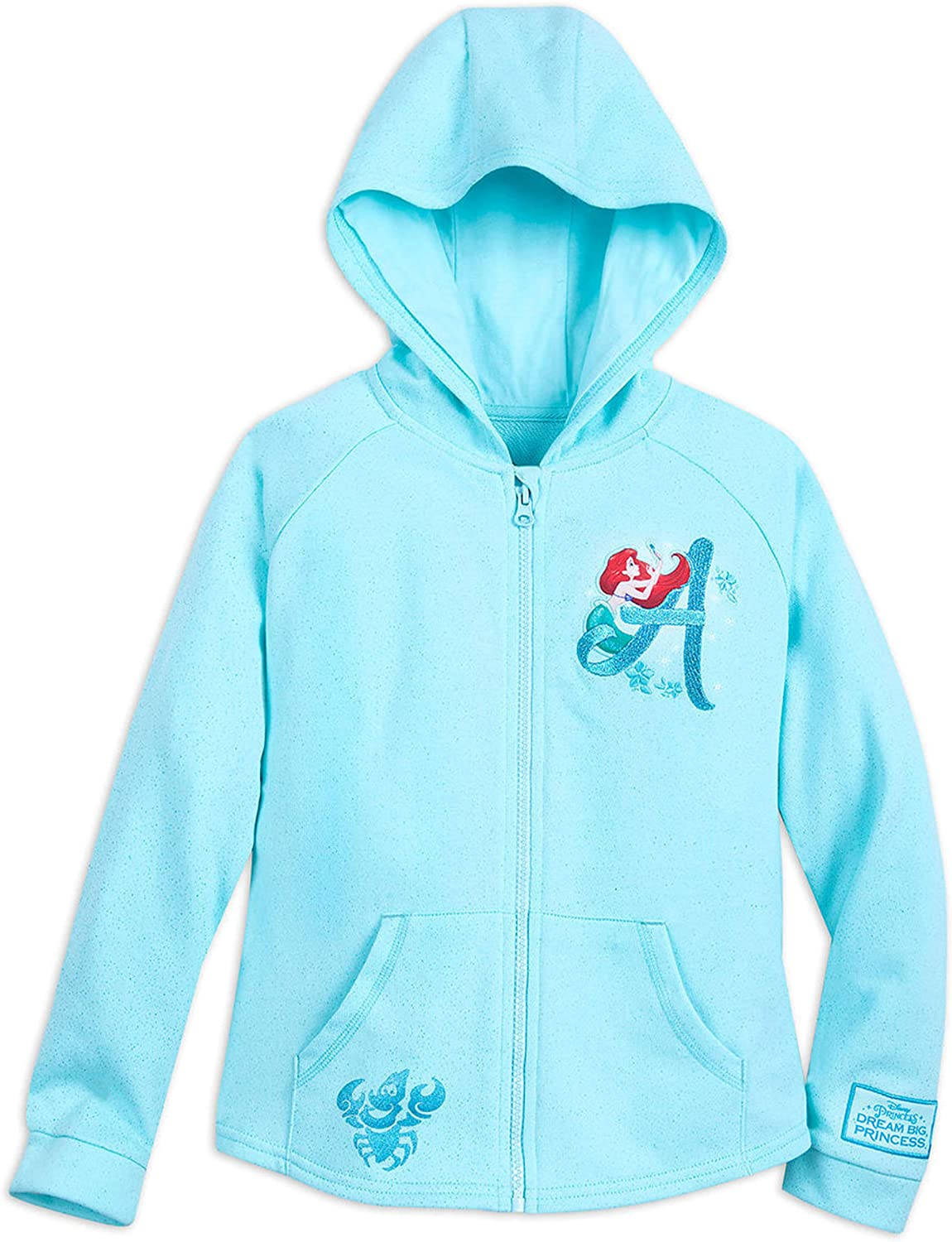 Disney Girls National products Zip Hoodie - Ariel Land Max 77% OFF Fantasy Blue Castle with