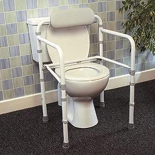 Homecraft Uni-Frame Folding Toilet Rail, Foldaway Toilet Surround Grab Bar