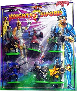 Britains - Storm Knights - 6 on Foot in 6 Different Battle Poses. Factory Painted Medieval Saracens. 1/32 Scale. - by TOYWAY