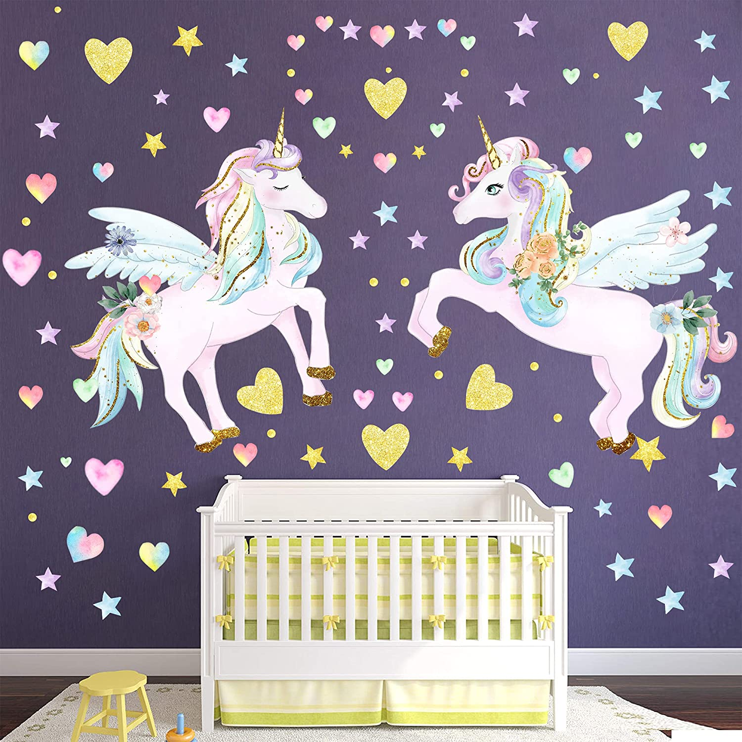 online shop Omaha Mall 3 Sheets Large Size Unicorn Bedroom for Wal Decals Wall