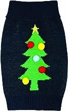 Holly & Robin Cosy Knit Pom Christmas Tree Jumper, M