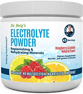 Dr. Berg's Original Electrolyte Powder, High Energy, Replenish & Rejuvenate Your Cells, 45 Servings, NO Maltodextrin or Su...