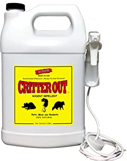 Deer Out / Mouse & Rat Repellent: Guaranteed to Work! Get Rid of Rats & Mice in Your Home and Outside/Protect Engine Wiring/Prevent Nesting/Stops Chewing / 1 Gallon Ready Critter Out