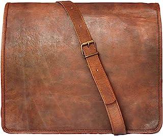"""15"""" Leather Messenger Bag Laptop case Office Briefcase Men Computer Distressed Shoulder Bag"""
