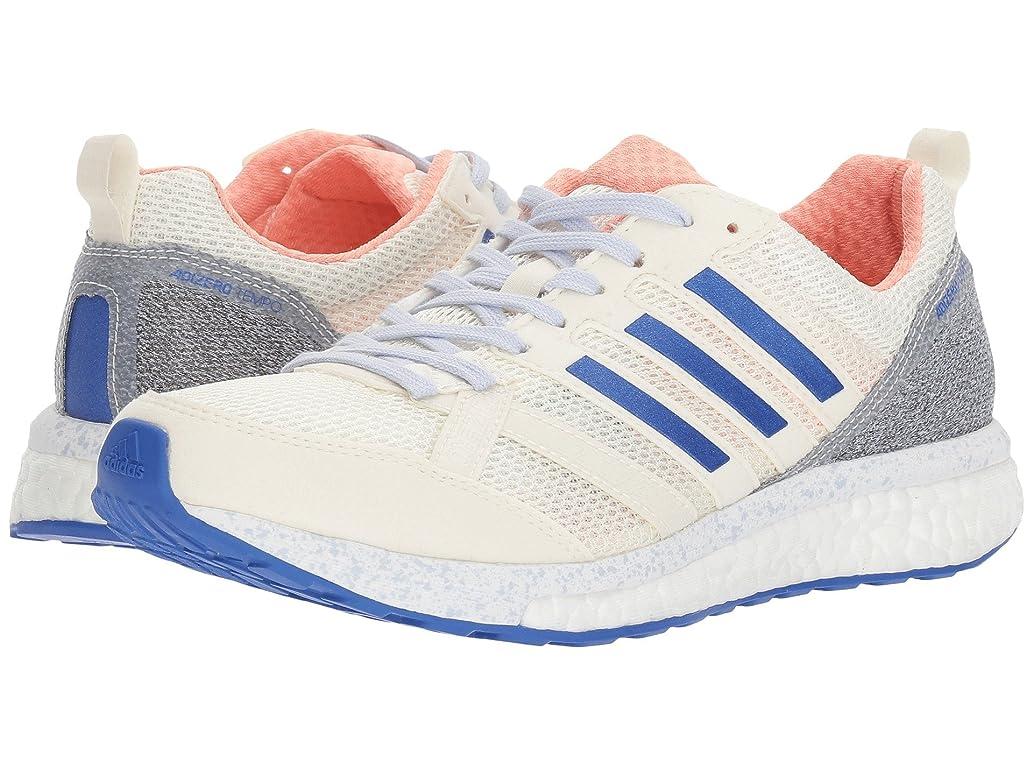 ダウン原子言い直す(アディダス) adidas レディースランニングシューズ?スニーカー?靴 adiZero Tempo 9 Hi-Res Orange/Hi-Res Blue/Off-White 9 (26cm) B - Medium