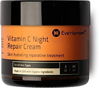 Eve Hansen Vitamin C Night Cream - Anti Aging Face Cream, Neck Cream, Vitamin C Cream, Vitamin E Cream - Natural Face Moisturizer for Acne Scar Removal, Dark Circles and Wrinkle Filler Skin Cream 2 oz