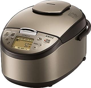 日立 炊飯器 5.5合 圧力IH 日本製 黒厚鉄釜 蒸気セーブ RZ-AG10M T ライトブラウン