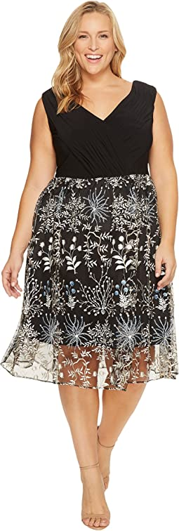 Plus Size Etheral Embroidery Fit and Flare Dress