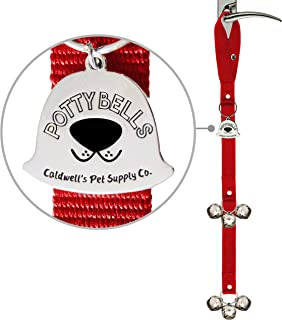Caldwell's Pet Supply Co. Potty Bells Housetraining Dog Doorbells for Dog Training and Housebreaking Your Doggy. 1.4 Inch ...