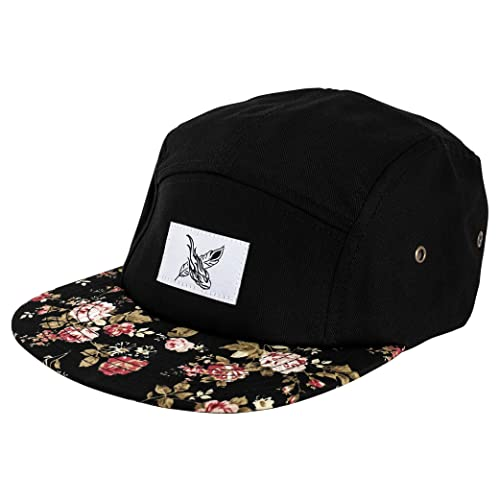 Blackskies 5-Panel Hat | Men Women Baseball Cap Floral Dad Snapback Strapback Hip Hop