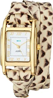 La Mer Collections Women's Japanese-Quartz Watch with Leather Calfskin Strap, Multi, 7.9 (Model: LMMILWOOD001