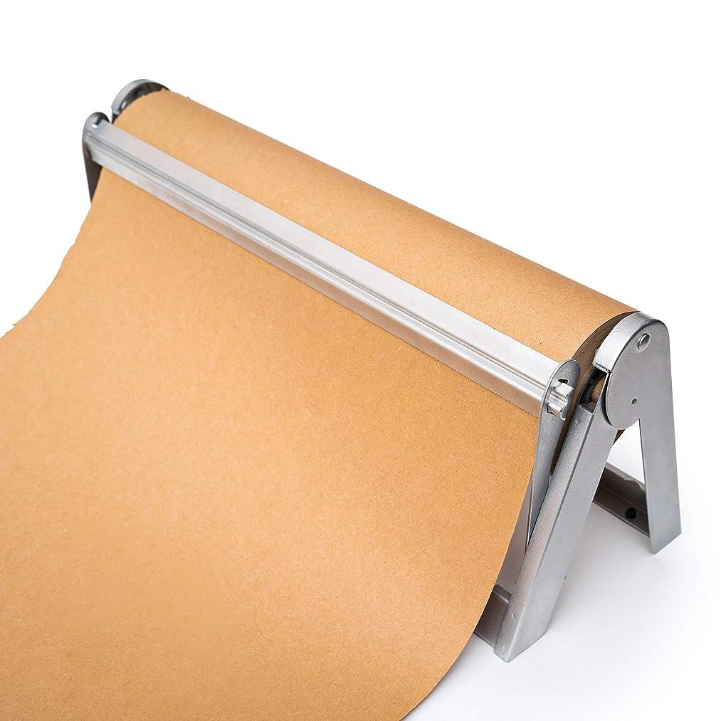 Wrapping Paper Roll Cutter - Holder & Dispenser for Butcher Freezer Craft Paper Rolls 24