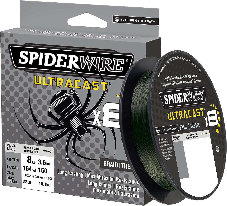 SPIDERWIRE UltraCast Invisi-Braid 65lb 125yd Trans  //SCUC65IB-125