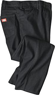 Dickies Occupational Workwear C993RBK Denim Cotton Regular Fit Men's Industrial Jean with Straight Leg, Black