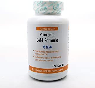 Pueraria Cold Formula Dietary Supplement 500mg 100 capsules (Ge Gen Tang) C06 100% Natural Herbs