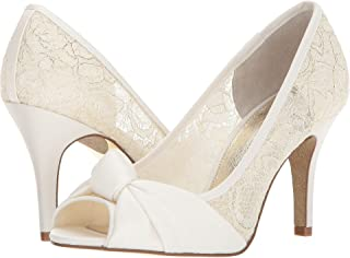 Best white lace shoes heels Reviews