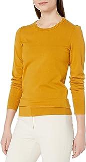 Lark & Ro Jersey de Manga Larga con Cuello Redondo. Suéter para Mujer