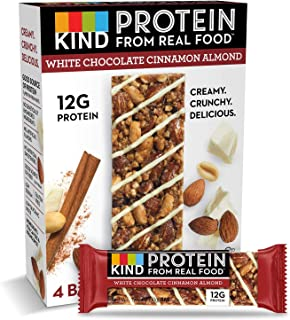 KIND Protein Bars, White Chocolate Cinnamon Almond, Gluten Free, 12g Protein,1.76 Ounce (24 Count)