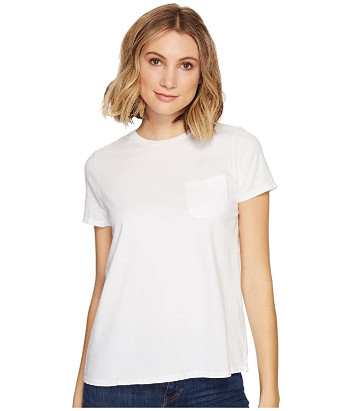 Richer Poorer Crew Pocket Tee (White) Women's T Shirt