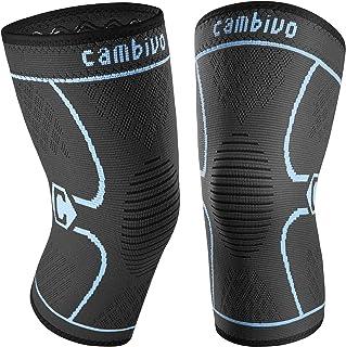 زانو بند CAMBIVO 2 Pack ، پشتیبانی از آستین فشرده سازی زانو برای مردان و زنان ، دویدن ، تمرین کردن ، سالن بدن سازی ، پیاده روی ، ورزش