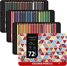 Magicfly 72 Colored Pencils Set in Tin Box, Soft Oil Based Cores Professional Artist Coloring Pencils for Coloring Books, Drawing Arts, Sketching, Shading, Art Supplies, Suitable for Adults and Kids