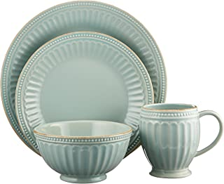 Lenox French Perle Groove 4 Piece Place Setting, Ice Blue - 856878