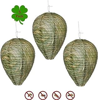 Outward Creations Wasp Nest Decoy - 3 Pack - Hanging Wasp Repellent and Deterrent- Safe Decoy