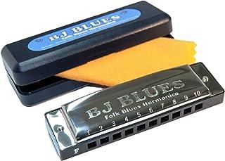 BJ Blues 285520 Folk Blues 10-Hole Diatonic Harmonica