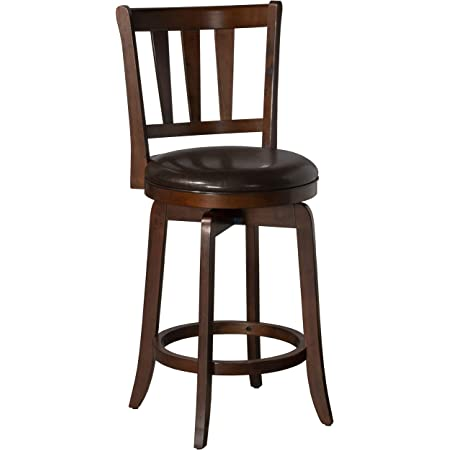 Boraam Augusta Counter Height Swivel Stool 24 Inch Cherry Furniture Decor