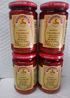 Tutto CalabriaHot Chili Peppers Crushed. In Glass 4 Pack.