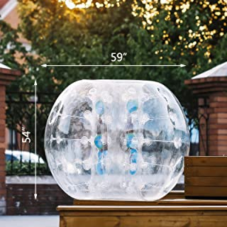 Popsport Inflatable Bumper Ball 5FT Bubble Soccer Ball 0.8mm Eco-Friendly PVC Zorb Ball Human Hamster Ball for Adults and Kids (5FT)