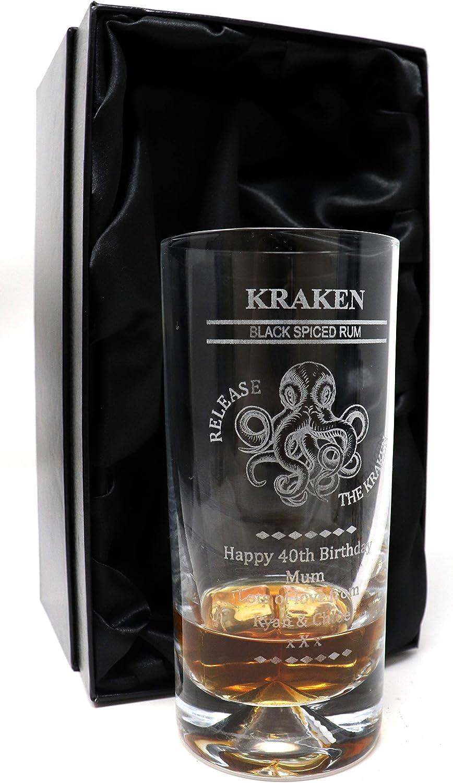 Hoyuelos personalizados, diseño de pulpo de ron Kraken (caja ...