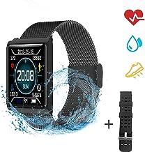 OOPPEN Reloj Inteligente Impermeable IP67 Rastreador de Actividad Monitor de Frecuencia Cardíaca Podómetro SMS Temporizador de Llamada Notificación Remota + 1 Correa