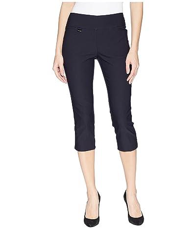 Lisette L Montreal Solid Magical Lycra(r) Capri Pants (Navy) Women