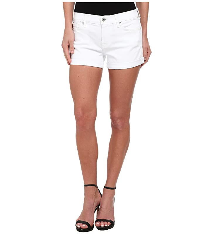 7 For All Mankind Roll Up Short In Clean White