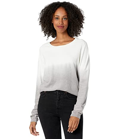 Majestic Filatures Cotton Terry Ombre Long Sleeve Pullover Crew