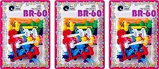 Tara Girls Self Hinge Multi Design Plastic Bow Hair Barrettes Selection Pack Of 3 (BR60)