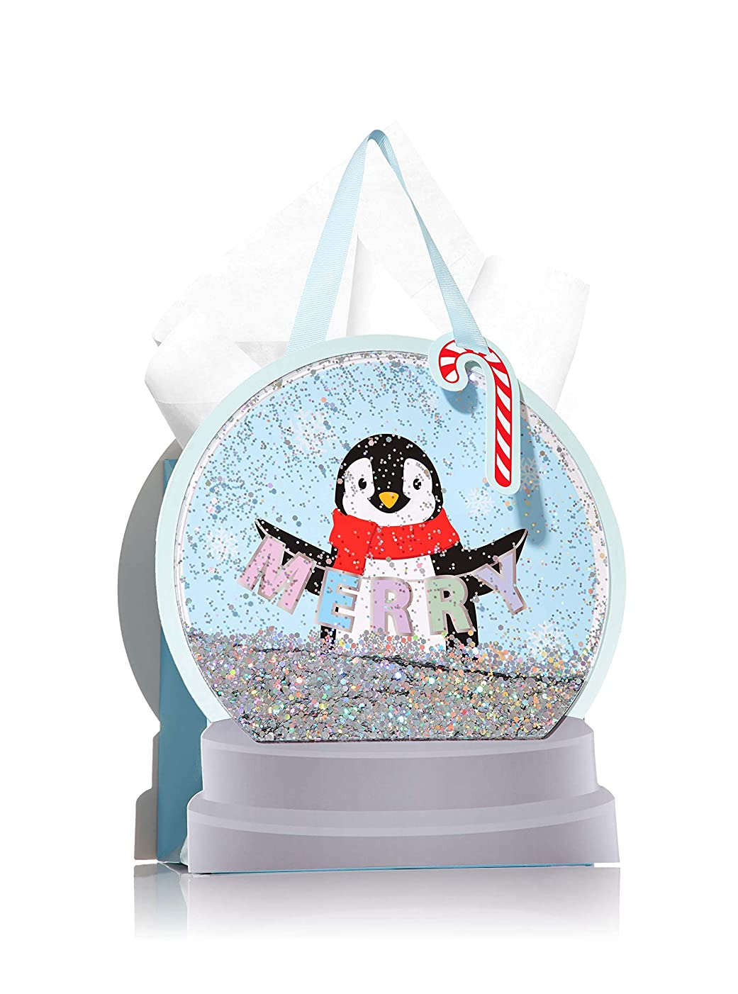 Bath and Body Works Holiday Glitter Penguin Gift Bag Set - 5 Pack